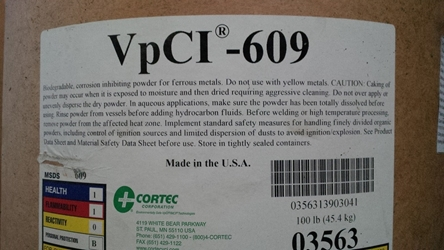 VpCI-609 Biodegradable Ferrous Metals Powder  50 lbs. corrosion, rust, corrosion inhibitor, corrosion control, rust inhibitor, rust remover, rust control, cortec, vpci, ecorr, VCI-609-50